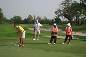 Golfers in Thailand