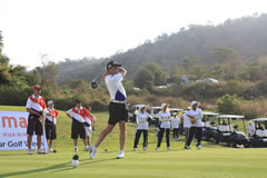 Golfers teeing off at the 2015 Amari Hua Hin Amateur Golf Week